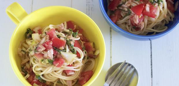 おうちデートの夏ランチに! 「トマトと大葉の冷製ツナパスタ」レシピ
