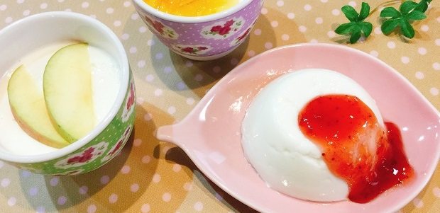 フルーツソースで華やかに♪さわやかでヘルシー!水切りヨーグルトで作るレアチーズケーキ